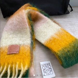 Brand new Loewe Striped Scarf In Mohair